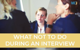Candidate learning what not to do during an interview